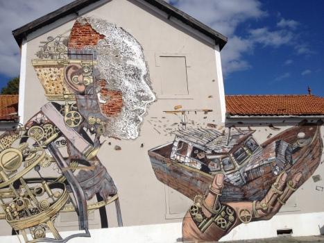Art near the harbor.